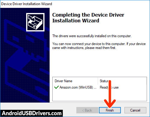 Amazon Kindle Fire USB Driver Installed - Amazon Kindle Fire HD 8.9 USB Drivers