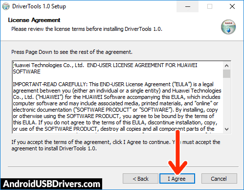 Huawei Drivers License Agreement - Huawei P8 GRA-UL00 USB Drivers