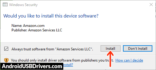 Install Amazon USB Drivers - Amazon Kindle Fire HD 8.9 USB Drivers