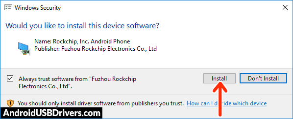 Install Rockchip Driver - Pipo Movie M3 USB Drivers