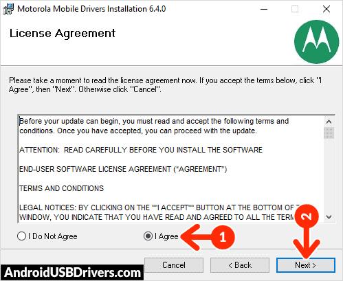Motorola Phone Drivers License Agreement - Motorola Lex L10 USB Drivers