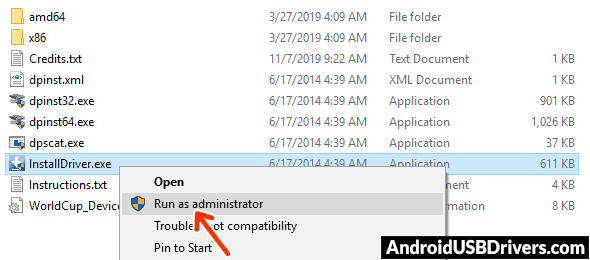 Run Amlogic Driver Installer - Wexler Tab 7iS USB Drivers